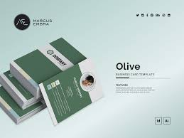 Olive Business Card Template By Marcus Embra On Dribbble