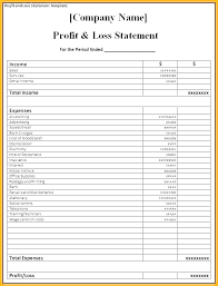 Profit Loss Statement For Self Employed Profit Statement Template Simple Income Statement Template