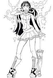monster high coloring pages draculaura. Interesting Draculaura Draculaura Coloring Pages Monster High Page And Clawd  In O