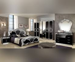 Italian Bedroom Set mcs sara sara black and silver italian bedroom set with 6 door 6246 by guidejewelry.us
