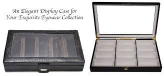 walk in closet eyeglass display case together