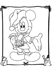 Small Picture Mickey Mouse Christmas Coloring Page aecostnet aecostnet