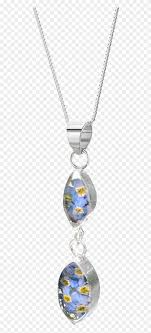 forget me not necklace double oval sterling silver moon necklace rosebud sterling silver real flower