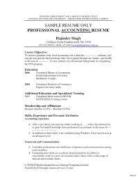 Resume Objective Examples Accounting Internship Fresh Accounting