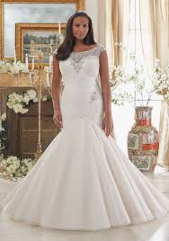 embroidery on tulle plus size wedding dress style 3206 morilee