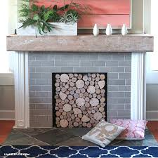 insulated magnetic decorative stunning decoration fireplace cover diy birch wood