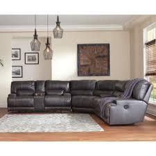Ashley Furniture Ashley San Marco Sectional Sofa Set In Chocolate