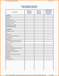 Monthly Business Budget Spreadsheet Download Expense Sheet