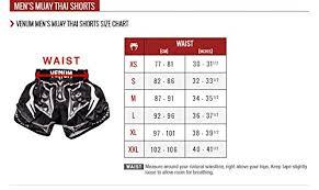 Venum Shorts Size Chart Venum Bangkok Inferno Muay Thai Shorts