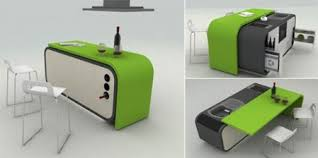 amazing furniture designs. The Modular Kitchen By Fevzi Karaman Is Perfect For Anyone Who Has Ever Tried To Live In A Loft Efficiency Unit. Bright Tasty Apple Green Cube So Amazing Furniture Designs C