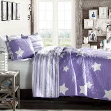 Purple Comforter Sets - Purple Bedroom Ideas & Purple and White Stars Coverlet Adamdwight.com