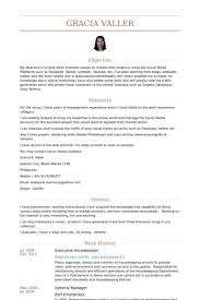 Executive Housekeeper Resume Beauteous Housekeeper Cv Example Accurate Like Executive Resume Keyhome