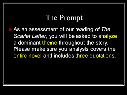 the scarlet letter literary essay ppt video online  the prompt
