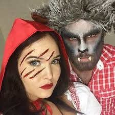 We Love This Spooky DIY Couple Halloween Costume. Red Riding Hood And Wolf  Costume