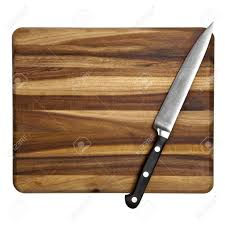 Chopping Table Kitchen Stainless Steel Kitchen Utility Knife On A Wooden Chopping Board