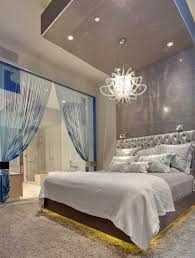 modern lighting bedroom. Fascinating Image Of Bedroom Decoration Using Modern White Glass Crystal Lighting Fixture Ideas Including Round Recessed Light In And M