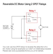dc motor reversing circuit timer or remote control quasar reverible dc motor using two relays