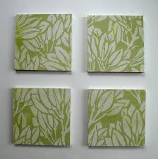 Wall Decorations :8 Green Canvas