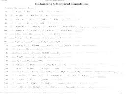 a 1 describing chemical reactions et answers from balancing equations answer key image source and basic chemical equations basic balancing