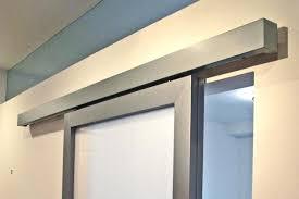 wall mount sliding doors rd mounted w fascia door track