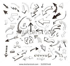 stock photo hand drawn arrows icons set on white 312007448 arrow cute stock photos, royalty free images & vectors shutterstock on arrow templates cute big