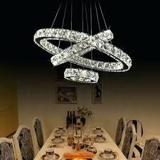 crystal chandelier modern swarovski residential led crystals new model steel fixture round l