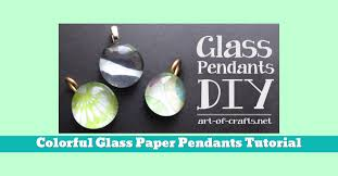 diy colourful colorful paper glass pendant