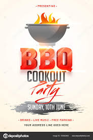 Bbq Poster Barbecue Poster Flyer Template Or Invitation Design Stock