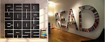 Creative Alphabet Bookshelves Design Idea