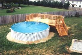 Above Ground Swimming Pool Deck Designs Impressive Decoration