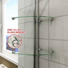 elegant pivot hinge shower door enclosure and inline panel with glass shelf 1000 1060