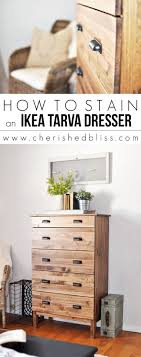 ikea furniture hack. how to stain an ikea tarva dresser furniture hack