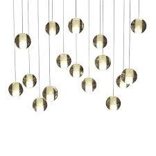 16 light chandelier glass globe bubble rectangular pendant touareg wide chrome 6 crystal