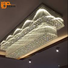 new bigman new rectangle crystal chandelier ceiling led lamp l80 w60 for rectangular shade chandelier