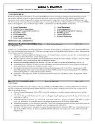 Typical Program Manager Resume It Clinical Program Manager Sample