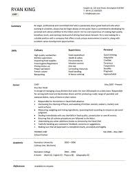 Resume Sample For Chef Pdf Template All Best Cv Resume Ideas