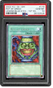 This card's atk/def become the combined original atk/def of the tributed monsters. Psa Set Registry Collecting The 2002 Yu Gi Oh Legend Of Blue Eyes White Dragon The First Yu Gi Oh Trading Card Game Set