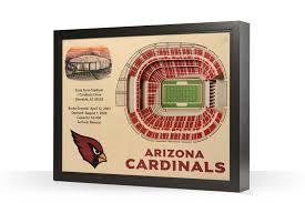 Arizona Cardinals Stadium 3d Seating Chart Arizona Cardinals State Farm Stadium 3d Wood Stadium Replica 3d Wood Maps Bella Maps