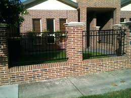 fence ideas types installation cost design brick decorative