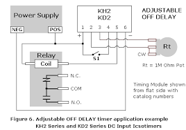 ics time delay module applications and wiring digital series wiring diagrams adjustable off time delay module application