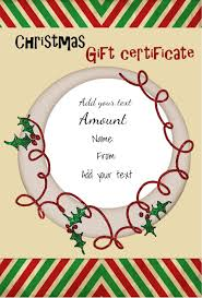 Free Christmas Gift Certificate Templates Free Christmas Gift Certificate Template Customize Online Download 3