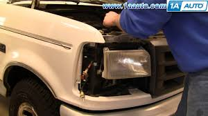 how to install replace headlight and bulb ford f150 f250 f350 92 2000 f250 headlight switch wiring diagram at Headlamp Switch Wiring Diagram 92 Ford F 250