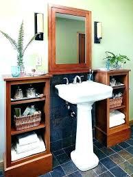 bathroom pedestal sink storage. Brilliant Bathroom Awesome Pedestal Sink With Storage Dynamicpeopleclub Regard To Bathroom  Cabinet Attractive On