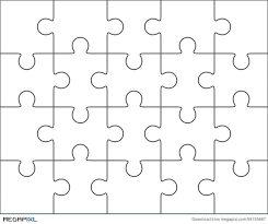 Blank Puzzle Template Jigsaw 4 5 Twenty Pieces New Representation Or ...