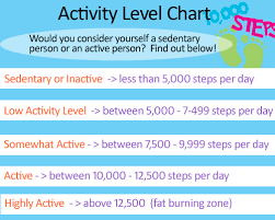 Activity Level Chart Benefits Of A Fitbit And Why We All Need A Fitness Tracker