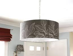 drum lighting fixtures black drum shade crystal