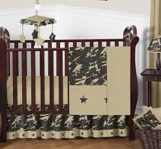 green and brown camo camouflage military baby boy bedding 11pc crib set without per