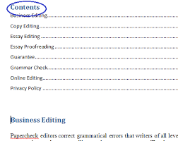 microsoft table of contents word  the table of contents have been inserted into the head of the document
