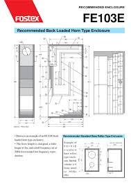 Bass Reflex Cabinet Design Fostex Fe103e Speaker Box Back Loaded Horn And Bass Reflex