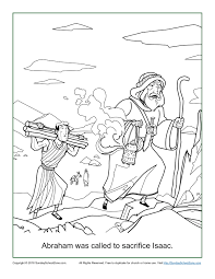 Abraham Was Called To Sacrifice Isaac Coloring Page Children S